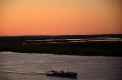 Marina mercante en el Paran (juannypg) Tags: argentina ro atardecer barco rosario islas roparan