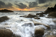 Coucher de soleil sur la pointe du But #1 ~ Île d'Yeu [ Vendée ~ France ] EXPLORED ! (emvri85) Tags: sunset seascape rocks waves vagues rochers île yeu iledyeu dyeu leefilters leschiensperrins