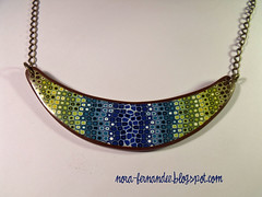 Collaret Pixelated retro blend (Nora ardilla polimrica) Tags: necklace polymerclay fimo