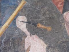 Immagine 329 (Andrea Carloni (Rimini)) Tags: urbino armatura sangiovanni 15thcentury 1400 daga 15thc pugnale salimbeni xvsecolo xvsec goticointernazionale oratoriodisangiovanni fratellisalimbeni