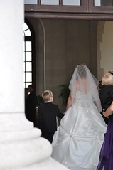 In we go! (bryanpage) Tags: wedding children harrison veil weddingdress pageboy harrisonhendrixpage harrisonpage michellechilds williamsonpark ashtonmemorial