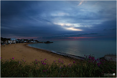 Sunrise Viking Bay Broadstairs (LeePellingPhotography.co.uk) Tags: pink flowers wild sky beach clouds sunrise kent lee isle thanet broadstairs vikingbay pelling