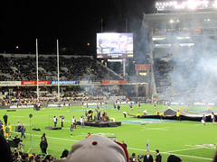 Bledisloe Cup, New Zealand Vs Australia, Eden Park (russelljsmith) Tags: camera newzealand people green rugby stadium edenpark australia auckland busy allblacks 2012 bledisloecup 77285mm