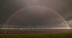 Over the Rainbow (Chris Gaziano) Tags: storm wisconsin rainbow lakemichigan milwaukee stormclouds