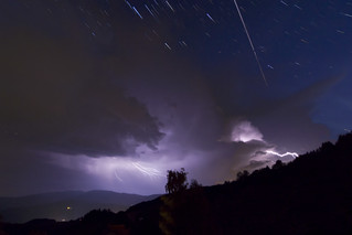 ISS passes over a Thunderstorm