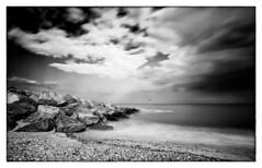 Breakwater II (Richard Reader (luciferscage)) Tags: camera sea sky bw seascape beach monochrome clouds coast may explore felixstowe 2012 breakwater explored nikond700 richardreader rmg:aav=0 rmg:aaw=0 rmg:aal=0 rmg:tag=fn6fn