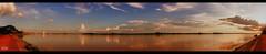 Sunset on Kong river (browneyes1971) Tags: landscapes laos olympuspen vientiane mekongriver mzuikolens
