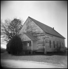 Dirt Road Church (dsfdawg) Tags: road old white house black history abandoned film church rural ga vintage georgia holga rust ruins worship closed decay south faith country prayer religion rustic ruin churches chapel historic southern dirt abandon forgotten baptist historical plus weathered hp5 methodist ilford youngs 120n holga120n oldsouth countrychurch ilfosol dsfotography dsfdawg