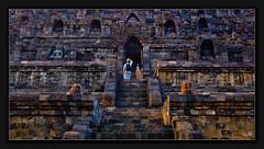 indonesia borobudur (Albert Photo) Tags: sunset heritage history monument indonesia temple lights java asia stupa buddhist tourist yogyakarta borobudur traveler historicalsites mahayana historicallegacy
