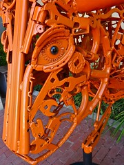 Mechanical steer (therealjoeo) Tags: sculpture cow gun texas library bull georgetown steer wrench