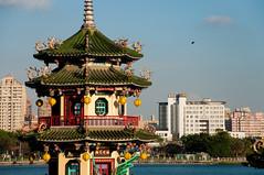(wenzday01) Tags: travel architecture pagoda pond nikon taiwan kaohsiung nikkor lotuspond d90 nikond90 twinpagoda 18105mmf3556gedafsvrdx