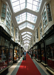 Burlington Archade (Vibrimage) Tags: london shopping symmetry shops redcarpet 2012 burlingtonarcade london2012 shoppingarcade luxuryshops