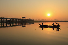 River of Dreams (craigkass) Tags: sunrise asia southeastasia burma myanmar mandalay ubeinbridge