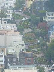 Lombard Street from Coit Tower, San Francisco (festivalos) Tags: bridge tower art car museum modern square golden bay pier gate san francisco sailing union cable muni seal 39 coit lombard 2012