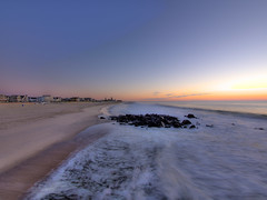 Dawn, Ocean Grove, with a view of Asbury Park (nosha) Tags: ocean new sea usa sun beach beautiful beauty sunrise newjersey grove nj atlantic shore jersey monmouth monmouthcounty jerseyshore 2012 lightroom oceangrove oceangrovenj nosha em5