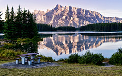 Early Morning at Two Jack Lake (Jeff Clow) Tags: morning lake reflection albertacanada banffnationalpark twojacklake tpslandscape tpsfs