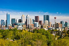 Calgary skyline in autumn (Overwater Photography) Tags: autumn calgary skyline downtown september calgarytower calgarydowntown calgaryskyline bowbuilding