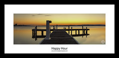 Happy Hour (John_Armytage) Tags: sunset panorama lake seascape newcastle colours dusk belmont pano jetty panoramic canon5d lakemacquarie canon2470l novaflex squidsink johnarmytage wwwjohnarmytagephotographycom belmontjetty