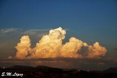 Transformacin de una nube  (serie)  [Explore 21/9/12] (E.M.Lpez) Tags: sky color luz atardecer andaluca septiembre cielo verano tormenta jaen serie nube 2012 alcallareal
