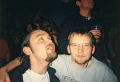 Halloween (Gary Kinsman) Tags: 2001 london film halloween students youth bar fun pub university young hampstead halloweenparty hallsofresidence nw3 kingscollegelondon kcl childshill studentcampus kidderporeavenue hampsteadstudentcampus hampsteadstudentbar hampsteadcampusbar