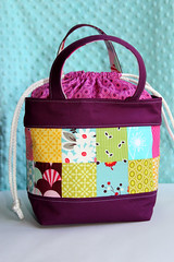 Berry Lunch Bag (Made By Cola) Tags: berry sewing kona lunchbag silentcinema fleamarketfancy pinkpenguin ovalelements konaberry