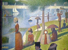 Seurat, A Sunday on La Grande Jatte—1884, detail with water