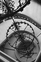 Biltmore Staircase ([Kevin] [McCarthy]) Tags: asheville north carolina nc biltmore estate staircase stairs upside down tilted turned altered spiral forest