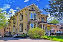 New Hamburg Ontario ~ Canada ~  Puddicombe House Bed & Breakfast ~ Resaturant & Spa (Onasill ~ Bill Badzo) Tags: newhamburg hamburg ont ontario canada perthcounty puddicombe house bed breakfast and restaurant spa merner mansion heritage historic parliament senator mpp italianate architecture style restored inn festival stratford kitchener onasill braden waterloo sky cloud canon sl1 rebel sigma 18250mm macro