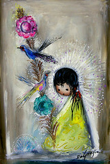 "DeGrazia's Bird Pole"", oil on canvas. (DeGrazia Gallery in the Sun) Tags: teddegrazia degrazia ettore ted artist galleryinthesun artgallery gallery nationalhistoricdistrict foundation nonprofit adobe architecture tucson arizona az catalinas desert paletteknife oil painting birdpole"