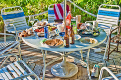 The morning after (agasfer) Tags: 2016 florida rivierabeach pentax k3 topaz detail3 sigma1850 food drinks trash party mess leftovers