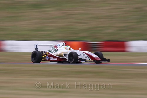 Sennan Fielding in British Formula 4 during the BTCC 2016 Weekend at Snetterton