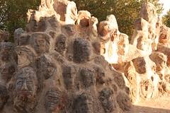 DSC_0895 (Sciabby) Tags: sicily sicilia sciacca filippobentivegna facce faces stone pietra castelloincantato artbrut
