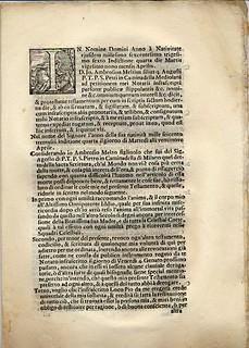 Testamento a stampa di Giovanni Ambrogio Melzi, 1636