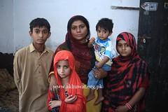 Samina with her family. (Akhuwat BPP) Tags: sukkur pakistan interest free loans microfinance entrepreneurship pakhtoon ordinary people small business akhuwat