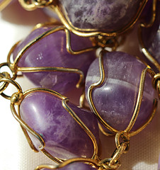 Begins with A - Amethyst (alison's daily photo) Tags: somethingbeginningwith a amethyst beads necklace macro macromondays 100xthe2016edition 100x2016 image68100