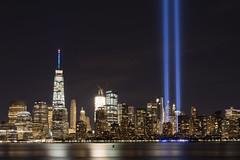 New York City Skyline September 11 2016 (Camera-junkie) Tags: tributeinlights nyc september112016 nikond7100 nycskyline jerseycity libertystatepark