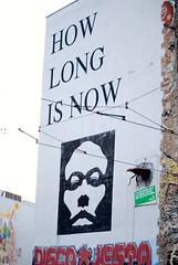 """How long is now"" wall (sz1507) Tags: urban 2016 deutschland germania artecontemporanea contemporaryart streetphilosophy scritte streetart art d60 nikond60 berlino berlin murales graffiti wall now long how howlongisnow time tempo philosophy filosofia contemporary arte"