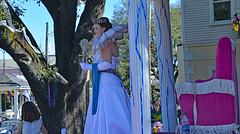 Queen for a Day (BKHagar *Kim*) Tags: bkhagar mardigras neworleans nola okeanos parade krewe royalty float rider people outdoor street napoleon crown queen celebration carnival