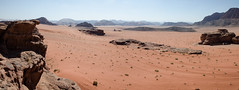 Wadi rum (LynxDaemon) Tags: panorama lanscape desert wadirum jordan sand orange sky mountain specland