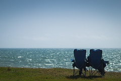 Relax (SteveO~) Tags: view sea relax chair seat blue water sky grass simple a58 sony 85mm slt 28 lazy