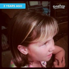 Adorable eight year old Alyssa...with not so adorable bangs. #Timehop (Jenn ) Tags: ifttt instagram