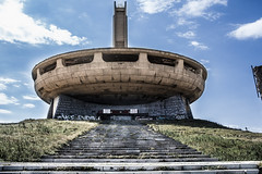 BUZLUDZHA-45 (RAFFI YOUREDJIAN PHOTOGRAPHY) Tags: buzludzha bulgaria spaceship soviet architecture ruin graffiti communist derelict abandoned relic distasteful building monument