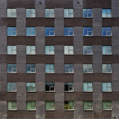 Woven Dreams (Paul Brouns) Tags: style minimalist minimal photography art paulbrounscom paulbrouns illusion surface urban geometric geometry pattern symmetry windows square building office gelderland holland nederland netherlands arnhem architecture facade bricks weave woven