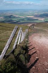 View from Tinto (David J. Grant) Tags: pentaxa 28mm f28 classic chrome sooc fujifilm fuji tinto scotland south lanarkshire fence landscape x mountains view hill