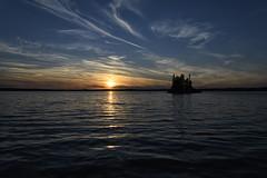 Mannifrank Lake Sunset (jrlarson67) Tags: mannifrank lake sunset sky clouds island water blue orange pink manitoba canada nikon d500