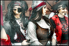IMG_1740 -PIRATES THREE (DEREK HYAMSON . OVER 5 AND A HALF MILLION) Tags: candids hdr pirates batala drummers albertdock liverpool