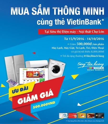 Mua sắm thông minh cùng thẻ VietinBank tại Cao Phong