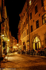 Wandering the streets of Gamla Stan #3 (sarahmcomish) Tags: hdr architecture street stockholm night alley old town