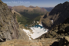 "Iceberg Lake from Iceberg Peak saddle • <a style=""font-size:0.8em;"" href=""http://www.flickr.com/photos/63501323@N07/7747849206/"" target=""_blank"">View on Flickr</a>"