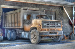 Dusty Truck_tonemapped (podolux) Tags: truck nikon pennsylvania pa trucks coop gmc greencastle 2012 gmctrucks photomatix tonemapped tonemap farmerscoop august2012 nikond5100 photomatixformac farmersunioncooperative